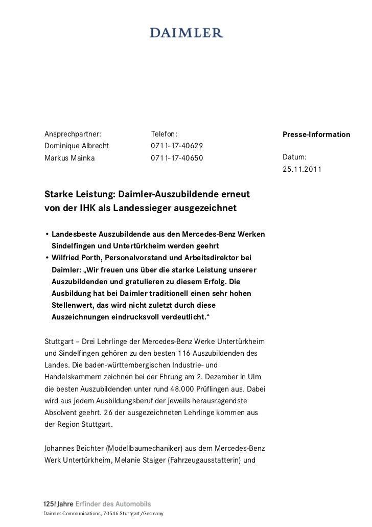 Ansprechpartner:                          Telefon:                  Presse-InformationDominique Albrecht                  ...