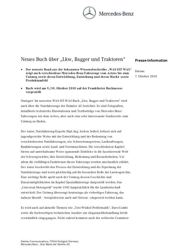 """Neues Buch über """"Lkw, Bagger und Traktoren""""                                       Presse-Information   Der neueste Band a..."""