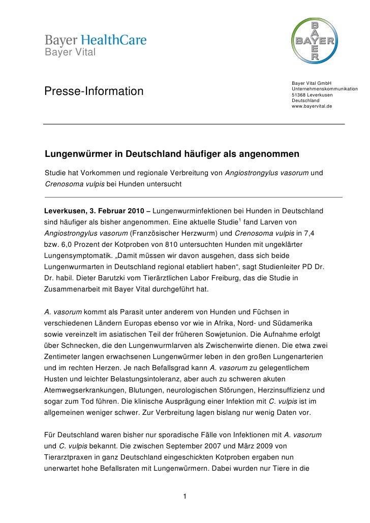 Bayer Vital                                                                         Bayer Vital GmbHPresse-Information    ...