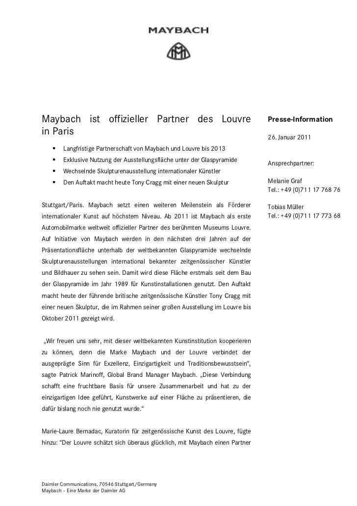 Seite 1Maybach ist offizieller Partner des Louvre                                     Presse-Informationin Paris          ...