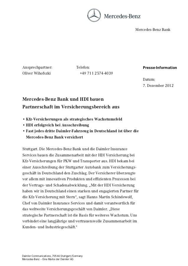Mercedes-Benz BankAnsprechpartner:                          Telefon:                    Presse-InformationOliver Wihofszki...