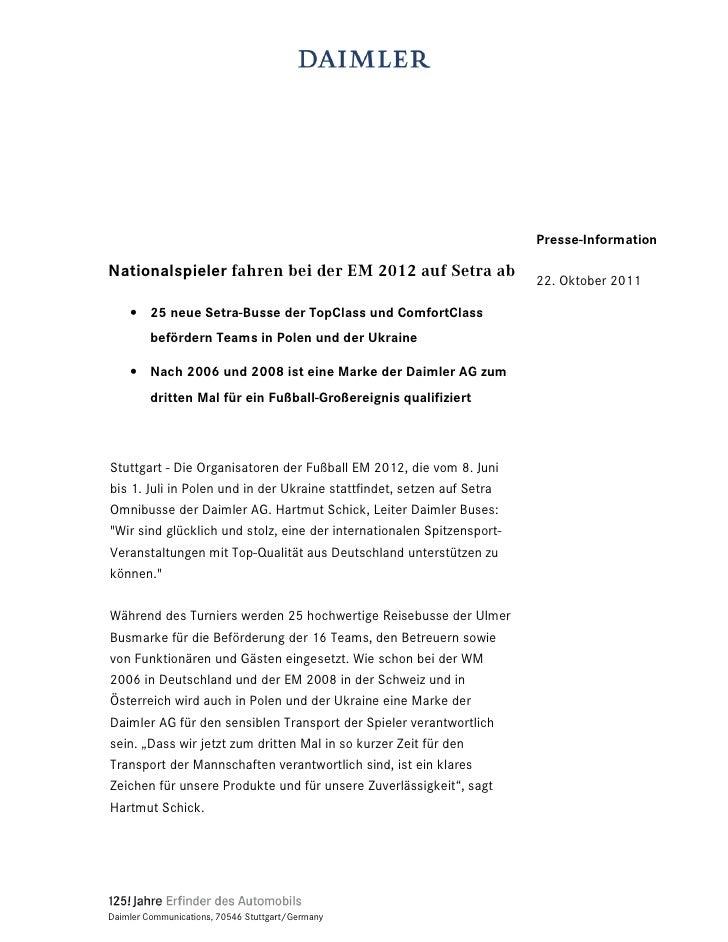 Presse-InformationNationalspieler IDKUHQ EHL GHU (0  DXI 6HWUD DE                                                         ...