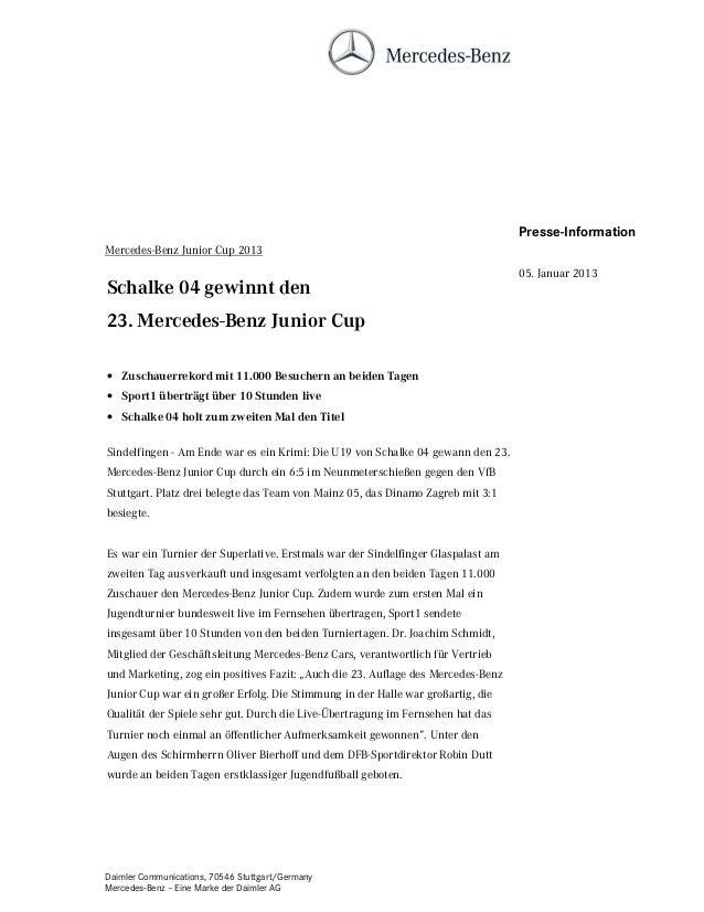 Presse-InformationMercedes-Benz Junior Cup 2013                                                                           ...