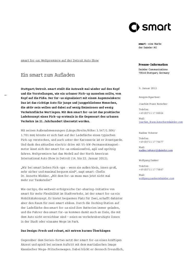 smart – eine Marke                                                                         der Daimler AGsmart for-us: Wel...