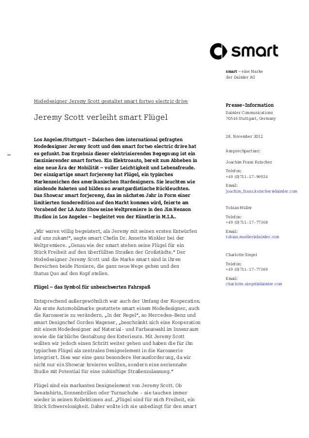 smart – eine Marke                                                                         der Daimler AGModedesigner Jere...