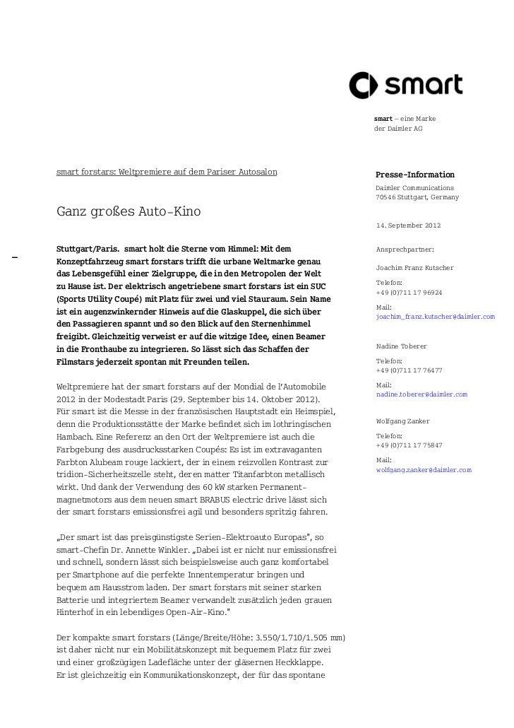smart – eine Marke                                                                          der Daimler AGsmart forstars: ...