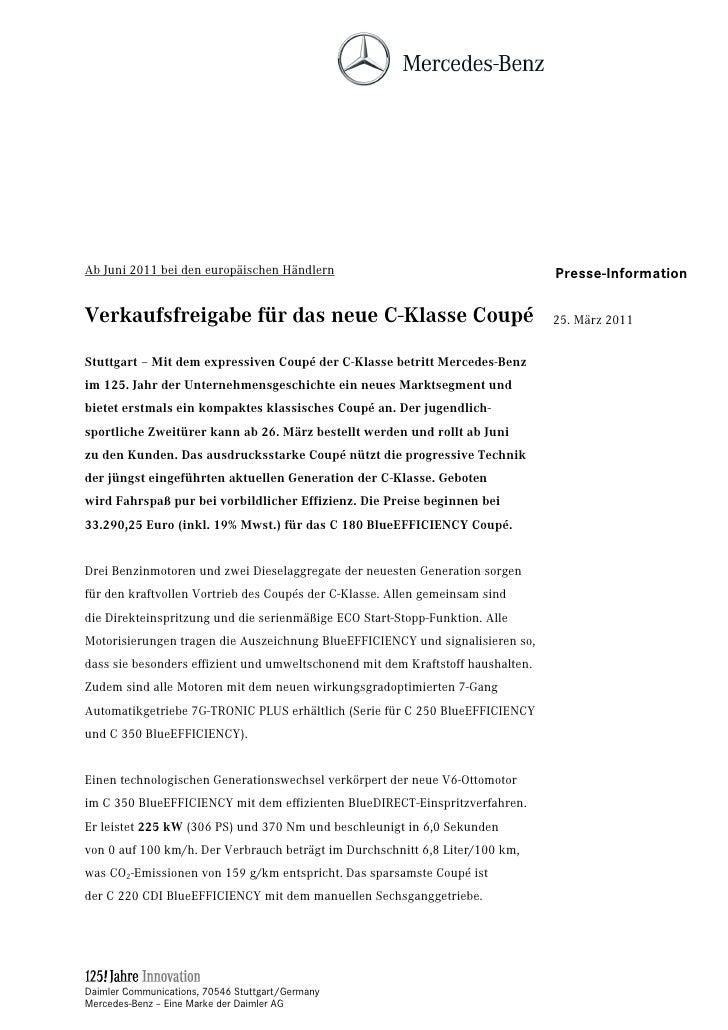 Ab Juni 2011 bei den europäischen Händlern                                       Presse-InformationVerkaufsfreigabe für da...
