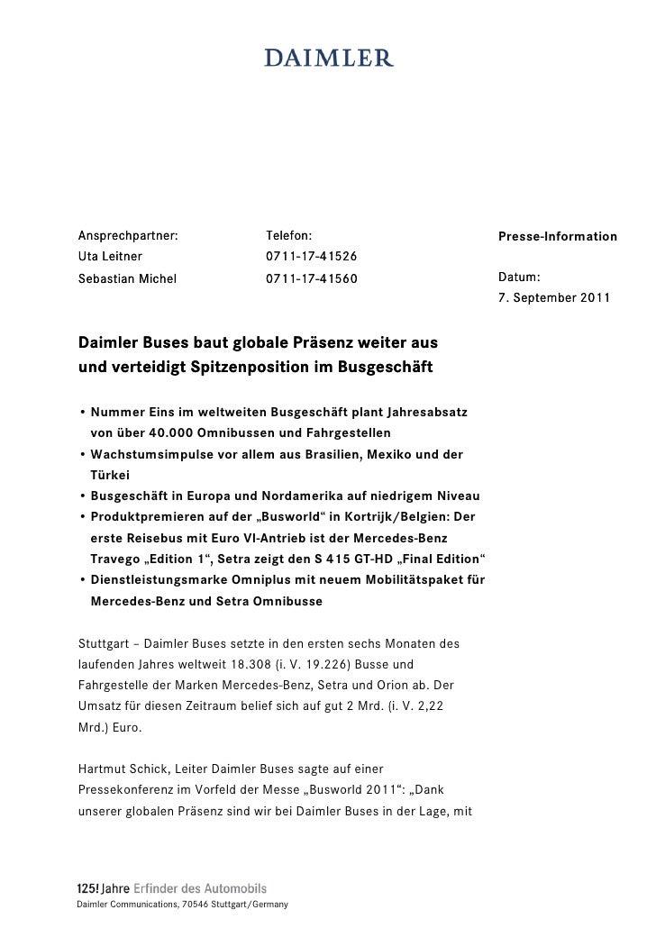Ansprechpartner:                          Telefon:                     Presse-InformationUta Leitner                      ...
