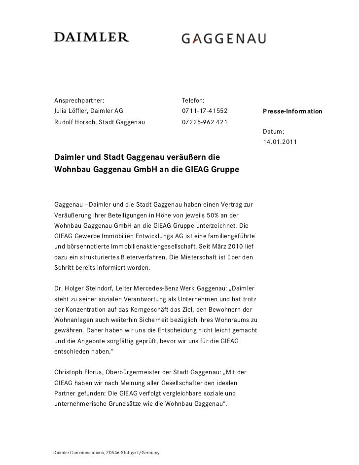 Ansprechpartner:                                  Telefon:Julia Löffler, Daimler AG                         0711-17-41552 ...