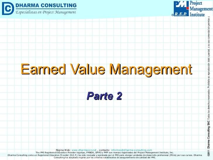 Earned Value Management (Parte 2)