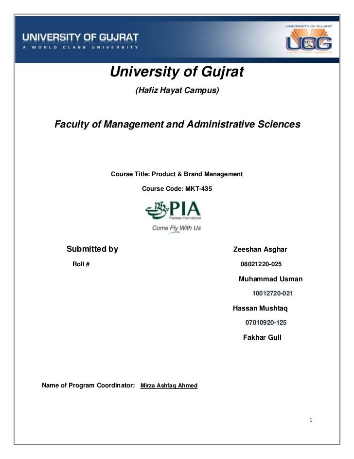 University of Gujrat                            (Hafiz Hayat Campus)   Faculty of Management and Administrative Sciences  ...