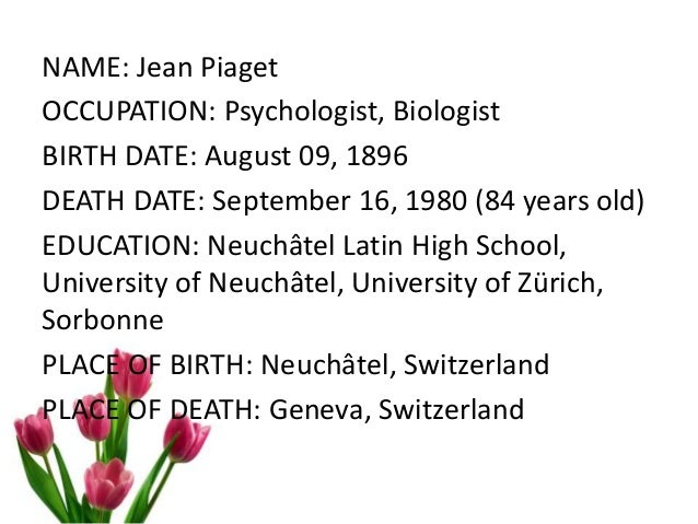 Piaget Cognitive Development in Adolescence