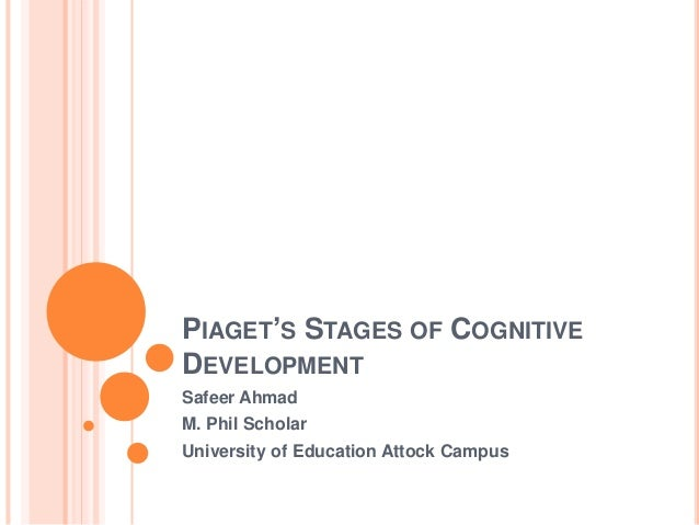 piagets stages of cognitive development Theory of cognitive development while studying his children, piaget developed theories concerning how children learn his theory of cognitive development consists of four stages of intellectual development 5 theory of cognitive development click on link to.
