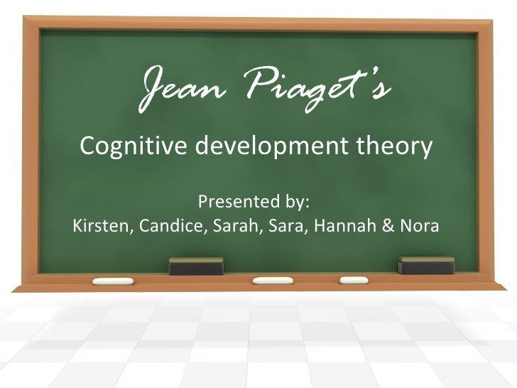 Jean Piaget's Cognitive development theory Presented by:  Kirsten, Candice, Sarah, Sara, Hannah & Nora