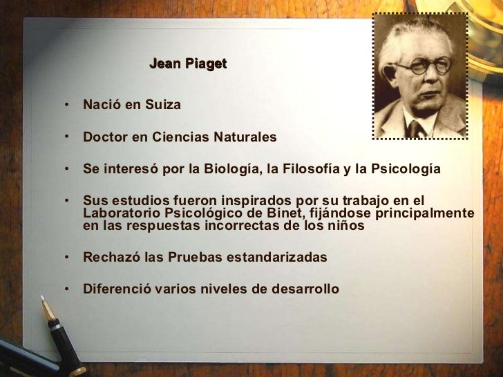 a short biography of jean piaget Biography of jean piaget - jean piaget was born in neuchatel, switzerland on august 9, 1896 he is the oldest child of rebecca jackson and arthur piaget.