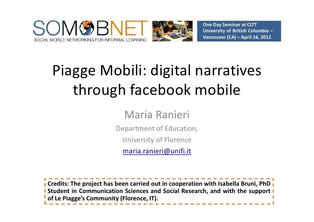 Piagge Mobili: digital narratives through facebook mobile