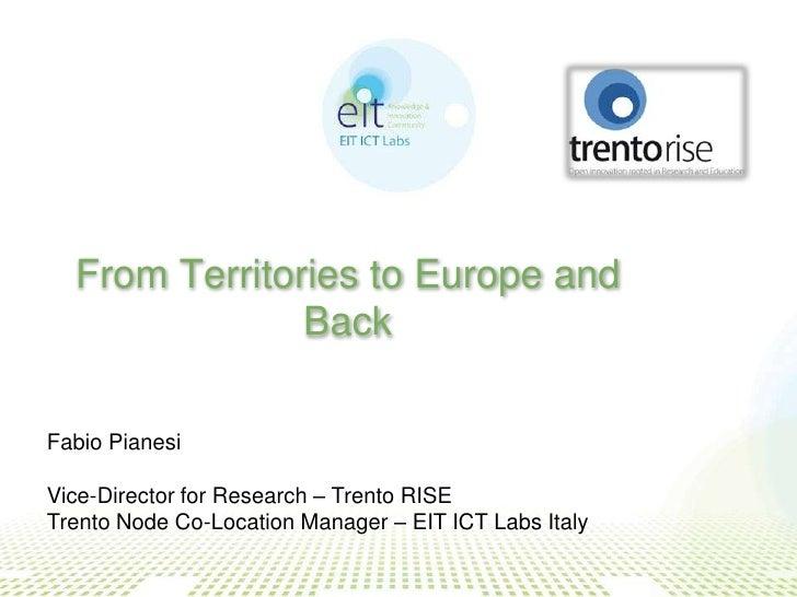 Pianesi - Dal territorio all'Europa e ritorno - Trentorise