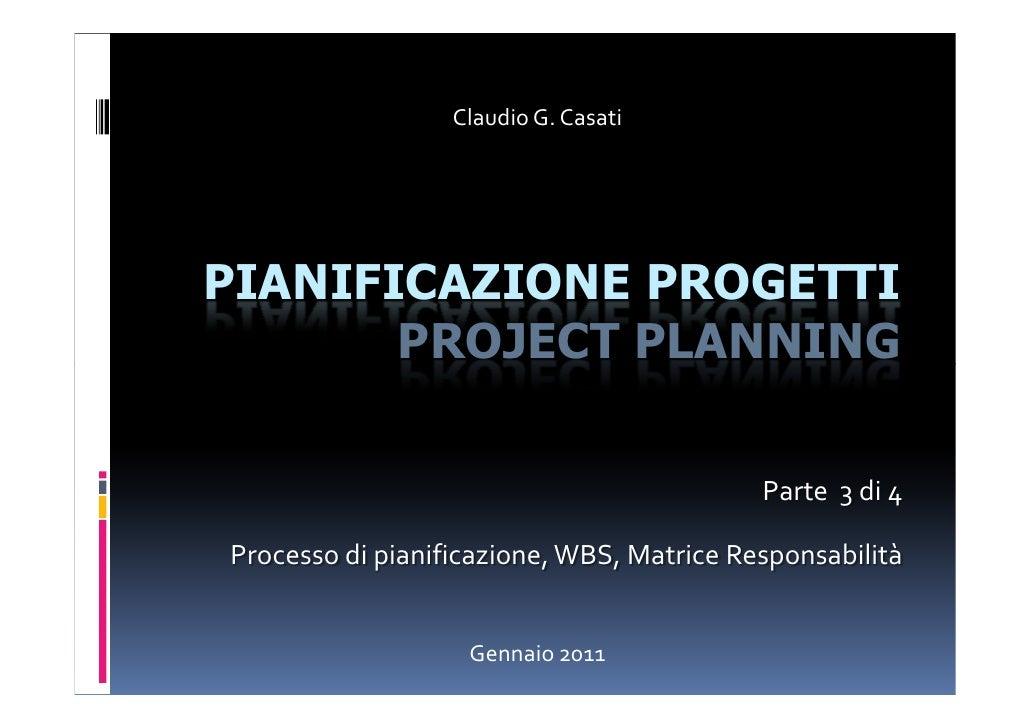 Pianificazione Progetti 3