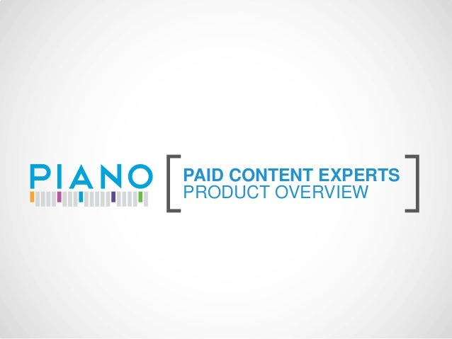 [   PAID CONTENT EXPERTS    PRODUCT OVERVIEW       ]