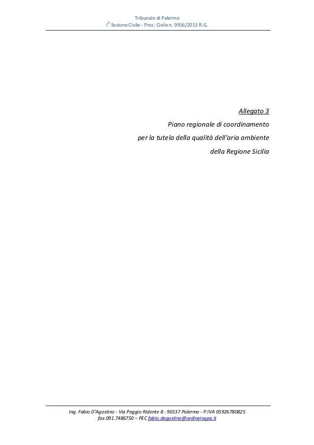 Piano aria regione sicilia anza' salvatore giuseppe ciampolillo procedimento 9916 2011 ctu d'agostino fabio  380 pagine e
