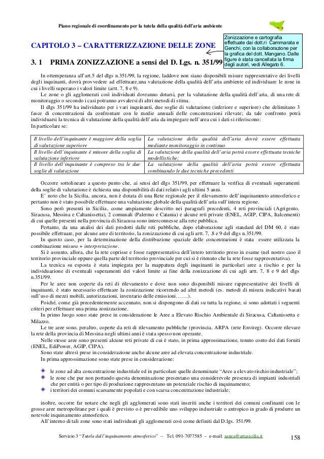 Piano regionale di coordinamento per la tutela della qualità dell'aria ambiente  CAPITOLO 3 – CARATTERIZZAZIONE DELLE ZONE...