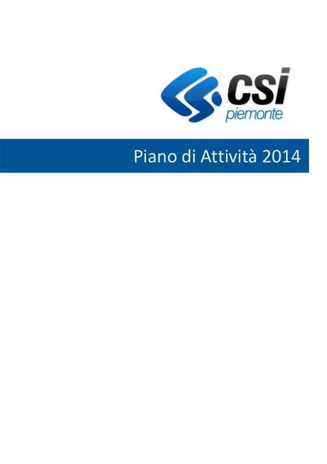 Piano attivita Csi Piemonte 2014