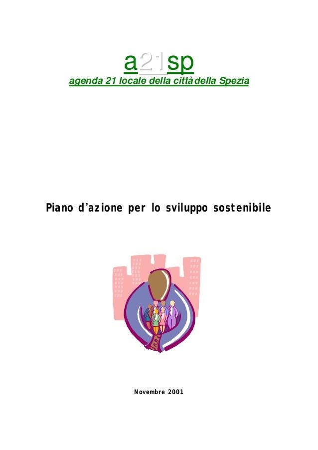 a2211sp agenda 21 locale della città della Spezia Piano d'azione per lo sviluppo sostenibile Novembre 2001