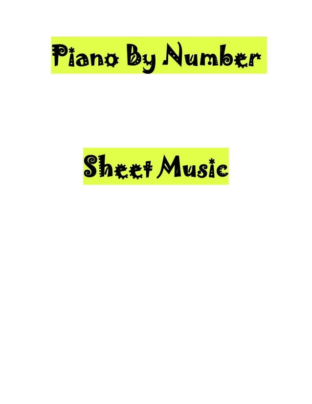Piano by numbersheet music