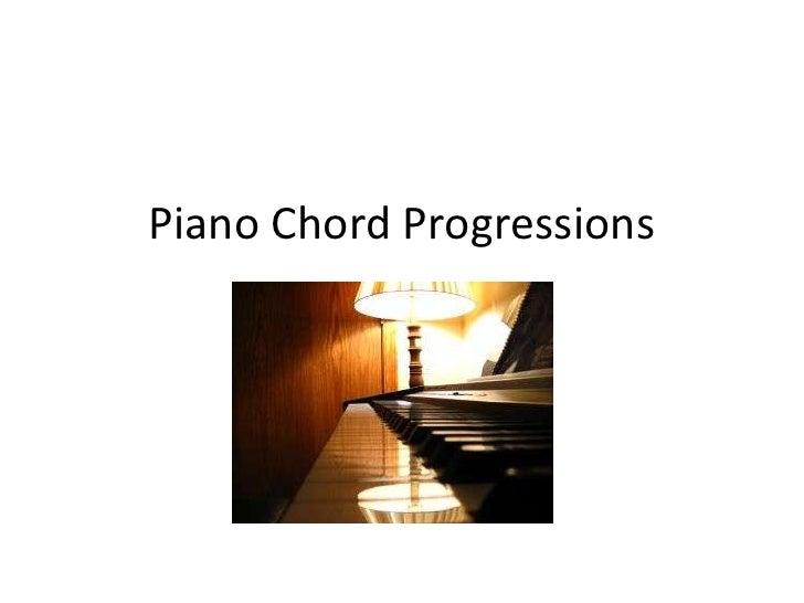 Piano Chord Progressions <br />