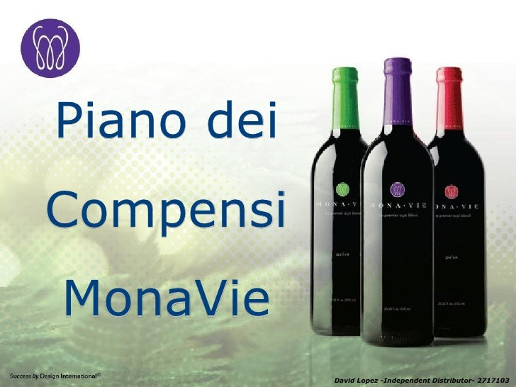 Piano dei Compensi MonaVie             David Lopez -Independent Distributor- 2717103