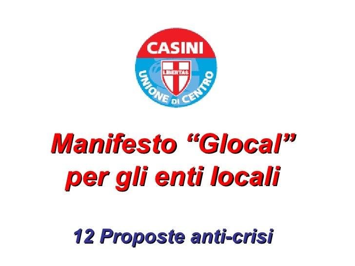 Piano Glocal Amministrazioni Locali Italiane