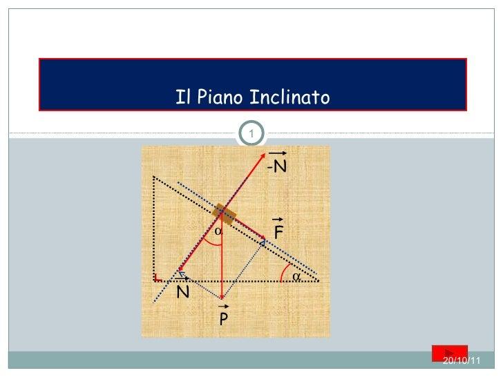Il Piano Inclinato 20/10/11 P F N -N  