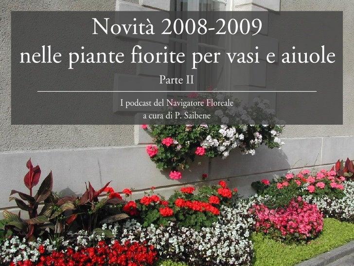 Piante fiorite per vasi e aiuole seconda parte for Piante per aiuole