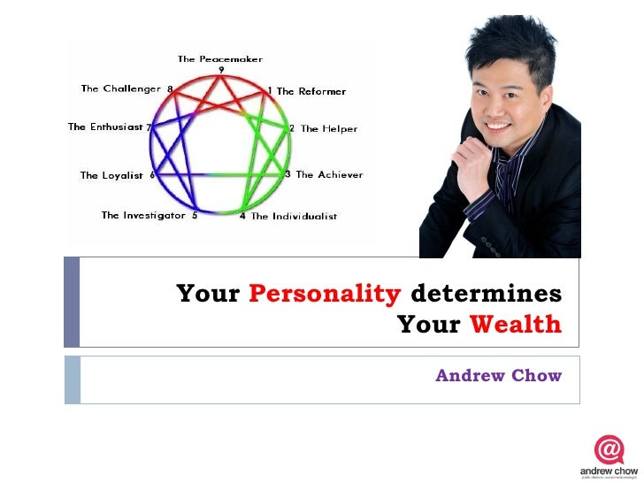 Your Personality determines                Your Wealth                  Andrew Chow