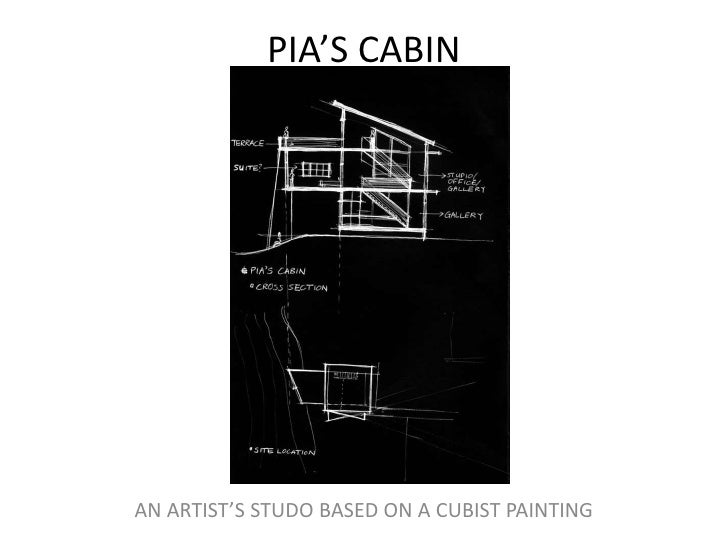 PIA'S CABIN <br />AN ARTIST'S STUDO BASED ON A CUBIST PAINTING <br />