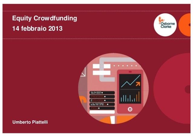 Umberto Piattelli - equity crowdfunding