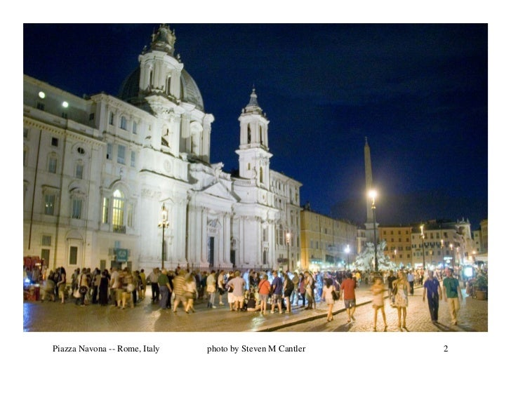 Piazza Navona -- Rome, Italy   photo by Steven M Cantler   2