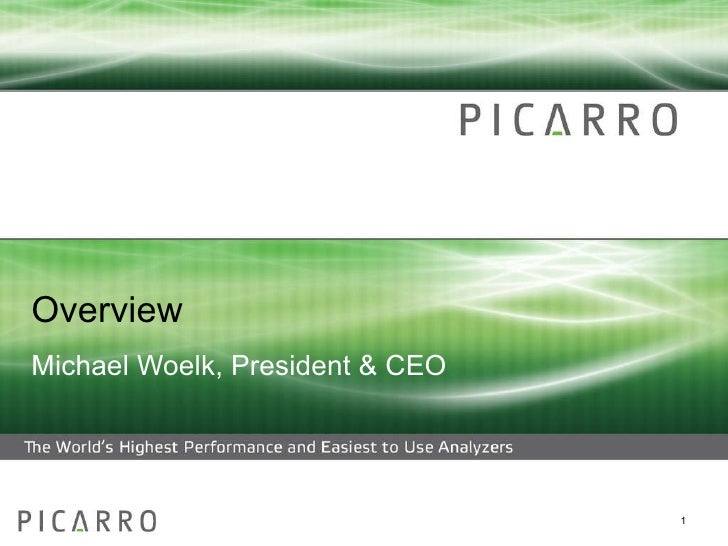 Picarro Overview and the Looming Sub-Prime Carbon Crisis