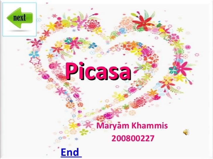 Picasa. maryam khammis saif 504ppt