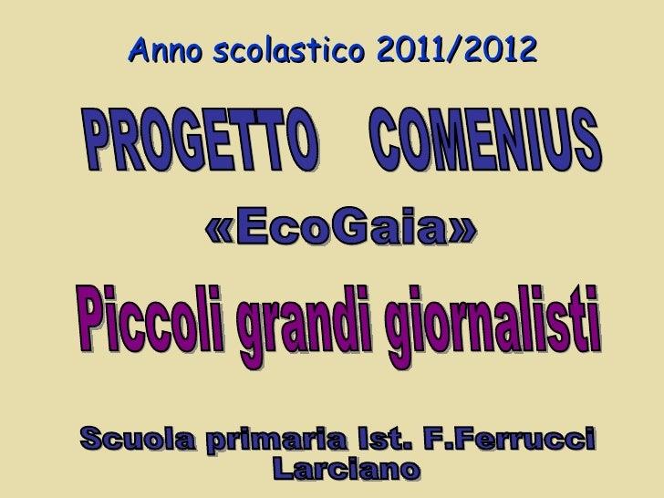 Anno scolastico 2011/2012