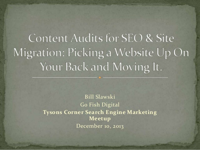 Content Audits for SEO & Site Migration: Picking a website up on your back and moving it