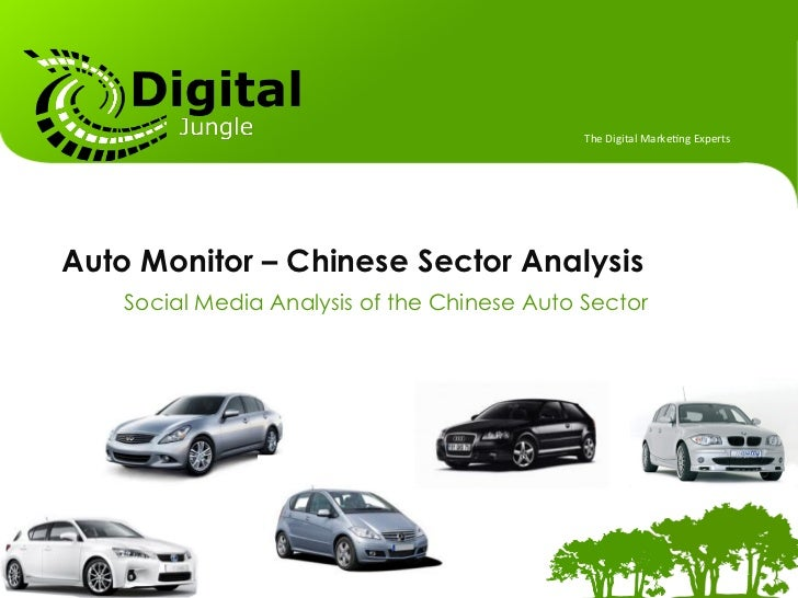 The	  Digital	  Marke.ng	  Experts	  Auto Monitor – Chinese Sector Analysis    Social Media Analysis of the Chinese Auto S...