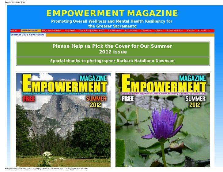 Summer 2012 Cover Draft                                                   EMPOWERMENT MAGAZINE                            ...