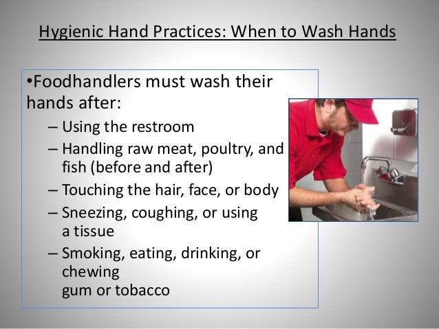 Food Safety Bare Hands ~ Pic person in charge level one food safety training