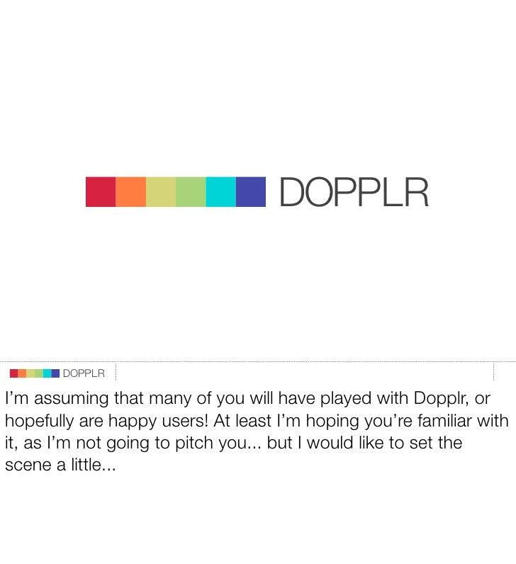 DOPPLR                                  DOPPLR                         DOPPLR                       DOPPLR               W...