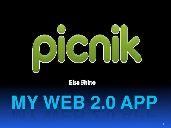 Elsa Shino<br />My Web 2.0 App<br />1<br />
