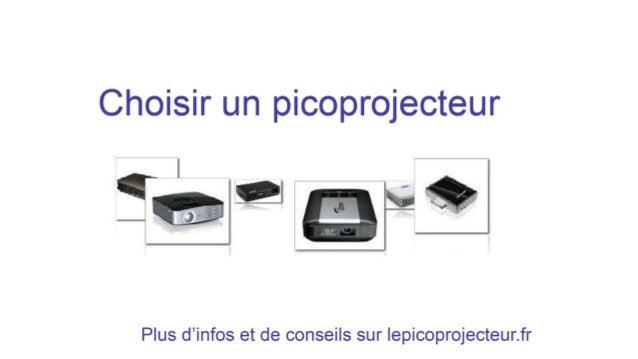 Choisir un picoprojecteur