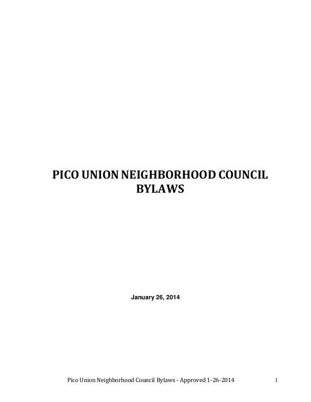 Pico Union NC Bylaws