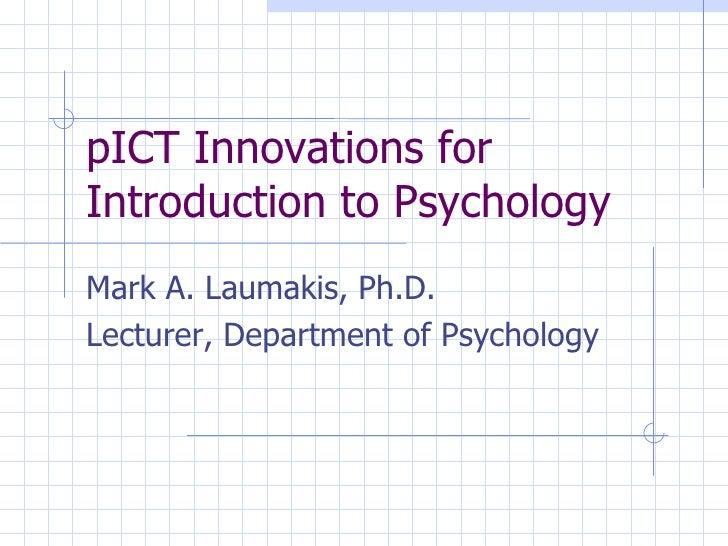 Mark Laumakis - Psychology