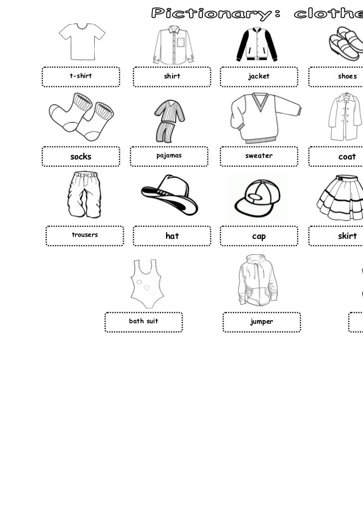 Pictionary Clothes and Accessories